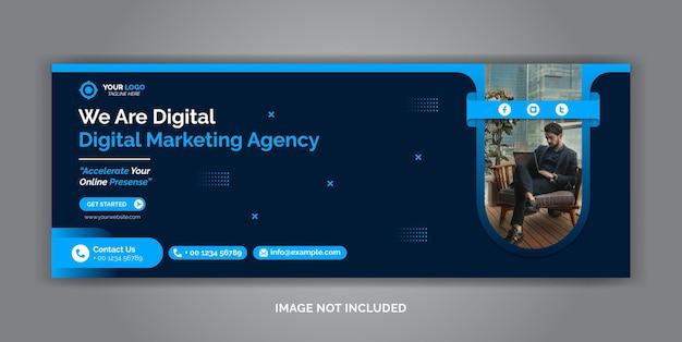 Szablon okładki na facebooku w mediach społecznościowych do marketingu cyfrowego