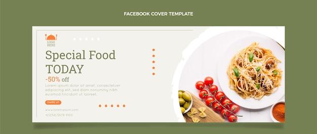 Szablon okładki na facebooku z płaskim jedzeniem
