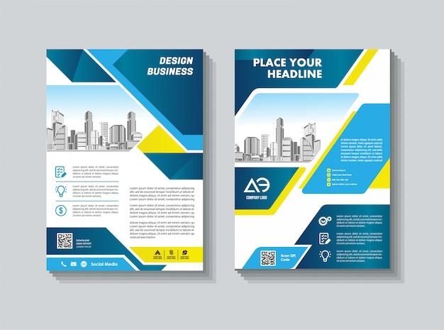 Szablon okładki rozmiar a4 broszura biznesowa okładka raportu rocznego