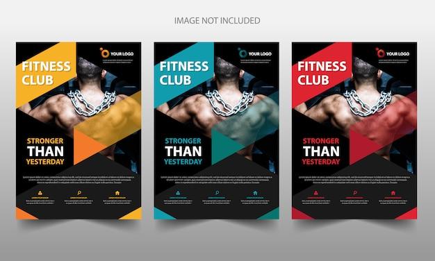 Szablon okładki ulotki broszury członka fitness