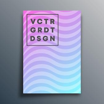 Szablon okładki z falistymi liniami na ulotkę, plakat, broszurę, typografię lub inne produkty do drukowania. ilustracja