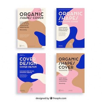 Szablon okładki z organicznymi kształtami