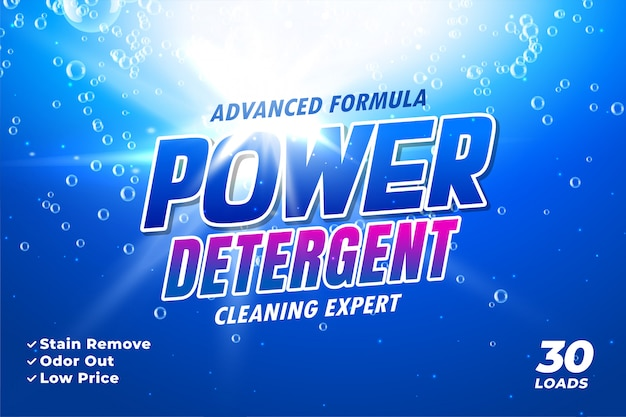 Szablon opakowania na detergent do prania
