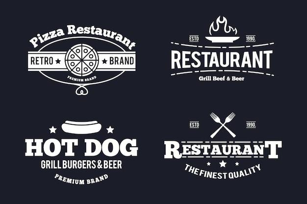 Szablon opakowania rocznika logo restauracji