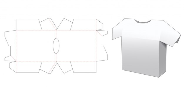 Szablon opakowania wykrojone z koszuli