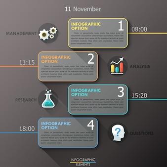 Szablon opcji płaskiej infographic
