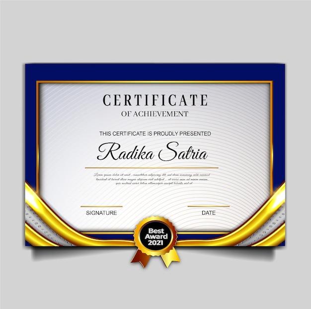 Szablon osiągnięcia certyfikatu luksusowego