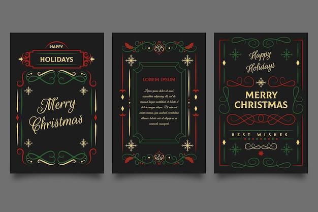 Szablon ozdobne kartki świąteczne