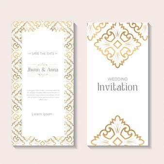 Szablon ozdobny elegancki zaproszenie na ślub