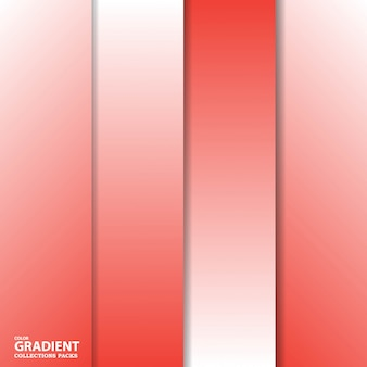 Szablon pakietu kolorów gradientu