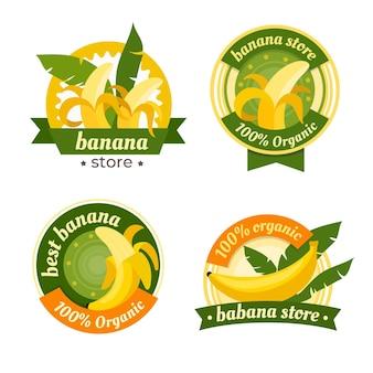 Szablon pakietu logo bananów