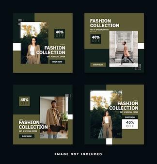 Szablon pakietu postów na sprzedaż mody na instagramie