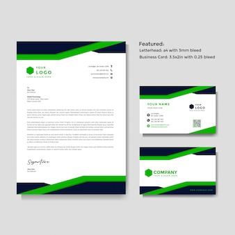 Szablon papier firmowy i wizytówki