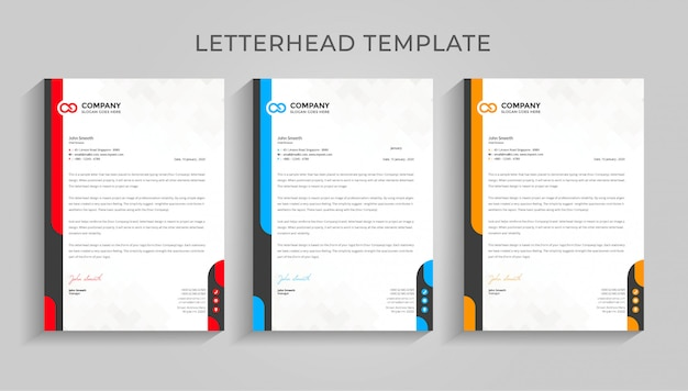 Szablon papier firmowy kreatywnych.