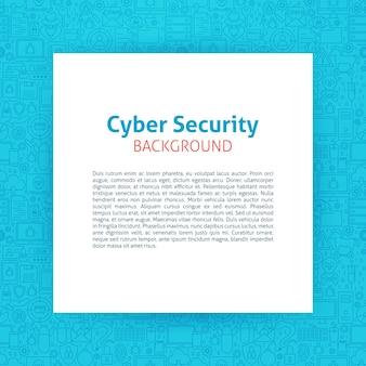 Szablon papieru bezpieczeństwa cybernetycznego. ilustracja wektorowa papieru na projekt konspektu.