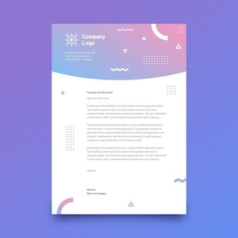 Szablon papieru firmowego gradientu