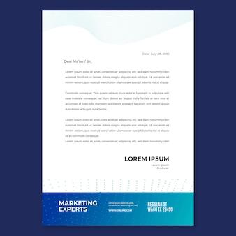 Szablon papieru firmowego marketingowego