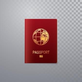 Szablon paszportu międzynarodowego na przezroczystym tle