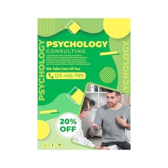 Szablon pionowy ulotki psychologii