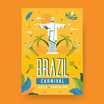 Szablon plakat brazylijski karnawał