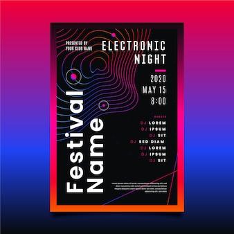 Szablon plakat elektroniczny noc