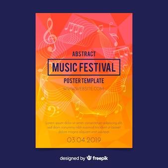 Szablon plakat festiwalu muzyki