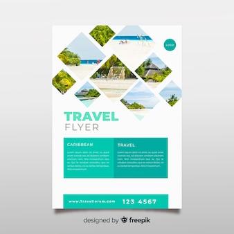 Szablon plakat fotograficzny podróży
