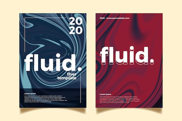 Szablon plakat kolorowy efekt płynny