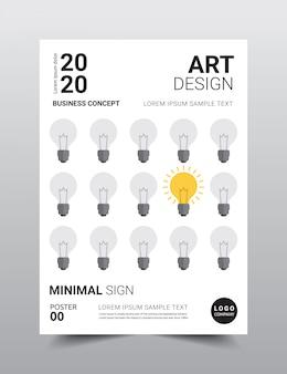 Szablon plakat kreatywnych minimalistyczny design.