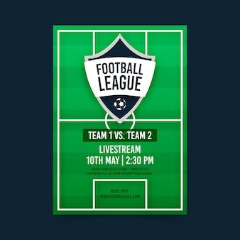 Szablon plakat mecz piłki nożnej