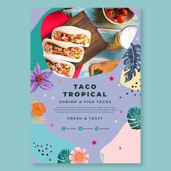 Szablon plakat meksykańskie jedzenie