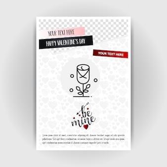 Szablon plakat miłość walentynki. miejsce dla obrazów i tekstu, ilustracji wektorowych