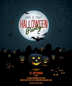 Szablon plakat noc halloween