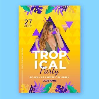 Szablon plakat partii tropikalnej