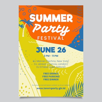 Szablon plakat party lato