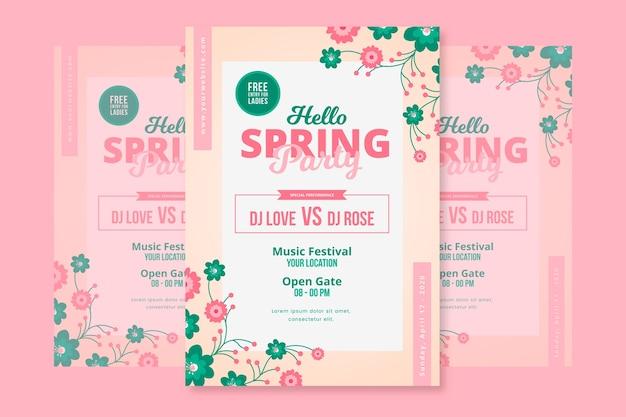 Szablon plakat piękna wiosna