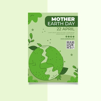 Szablon plakat pionowy dzień matki ziemi