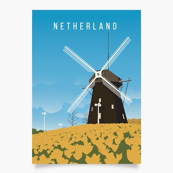 Szablon plakat promocyjny holandii