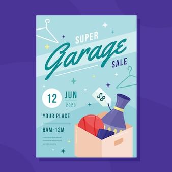 Szablon plakat sprzedaż garażu