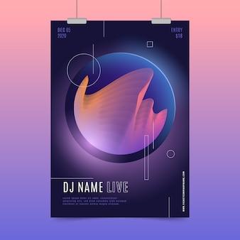 Szablon plakat streszczenie muzyki