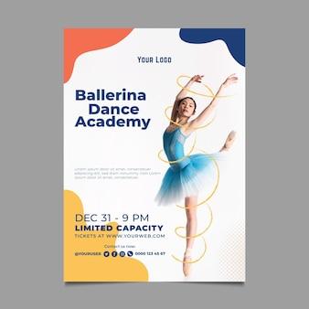 Szablon plakatu akademii tańca