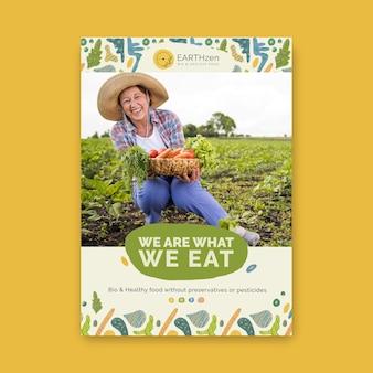 Szablon plakatu bio i zdrowej żywności