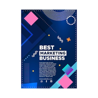 Szablon plakatu biznesowego marketingu