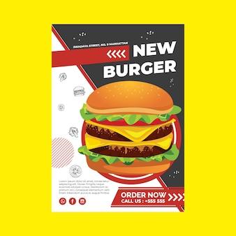 Szablon Plakatu Burger Darmowych Wektorów
