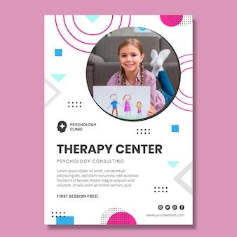 Szablon plakatu centrum terapii