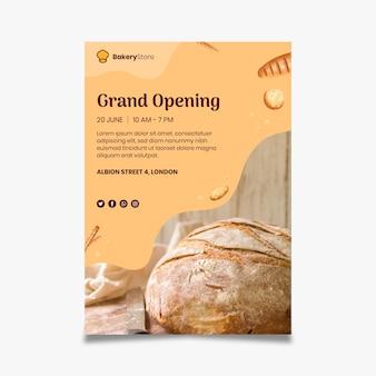 Szablon plakatu chleba