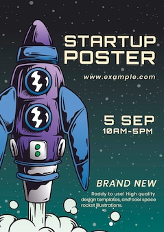 Szablon plakatu dla biznesu na start