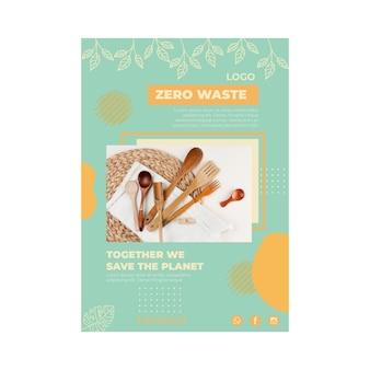 Szablon plakatu dla środowiska zero waste