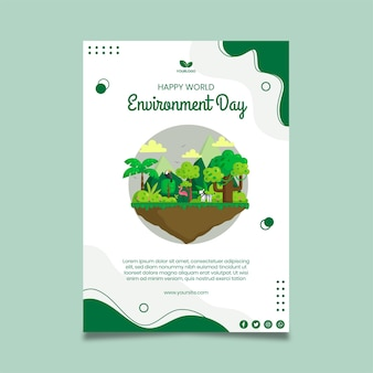 Szablon plakatu dnia środowiska