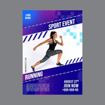 Szablon plakatu do ćwiczeń fitness